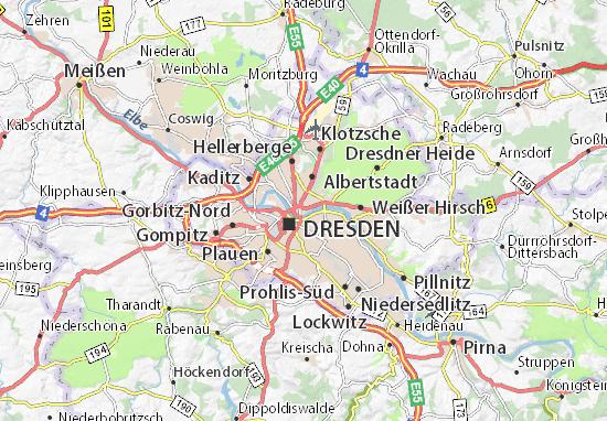 karte dresden neustadt Karte, Stadtplan Innere Neustadt   ViaMichelin