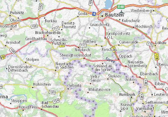 Mapas-Planos Steinigtwolmsdorf