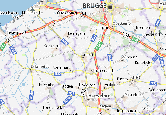 Torhout Map