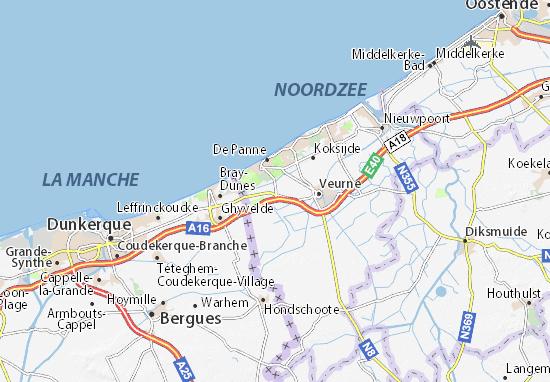 Adinkerke Map Detailed Maps For The City Of Adinkerke Viamichelin