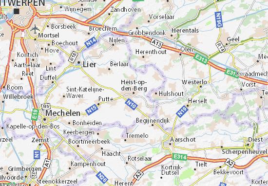 Mapa Plano Heist-op-den-Berg