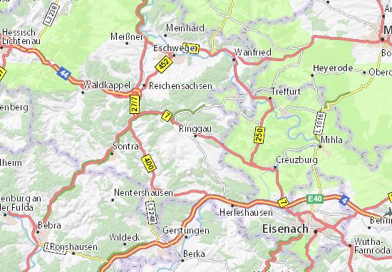 Karte Stadtplan Ringgau