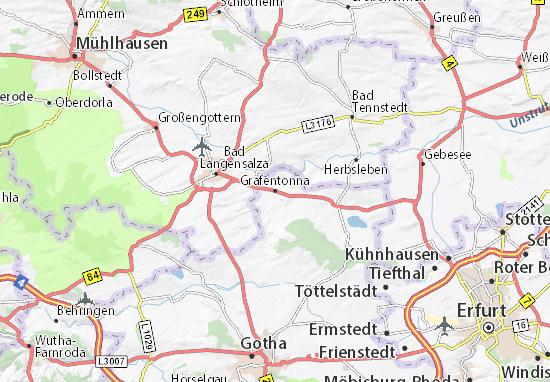 Karte Stadtplan Gräfentonna