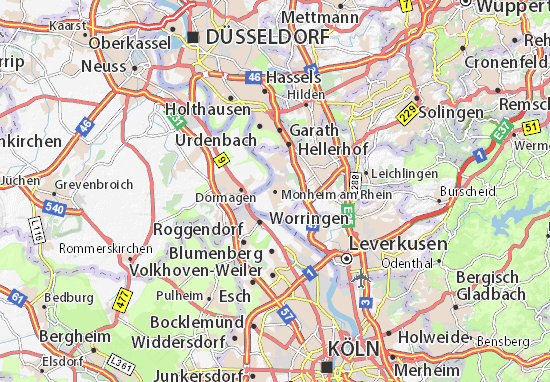 Carte-Plan Monheim am Rhein