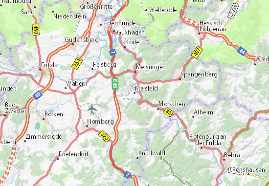 Malsfeld Map