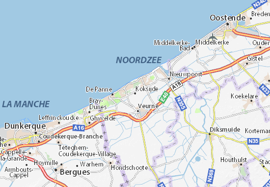 Carte-Plan Koksijde