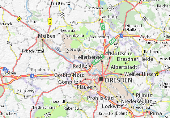 Karte Stadtplan Radebeul