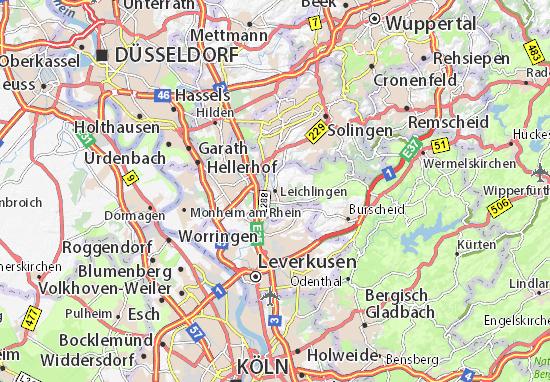 Mapa Leichlingen