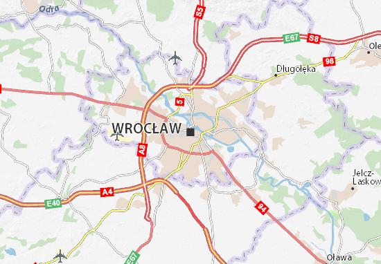 Karte Stadtplan Wrocław