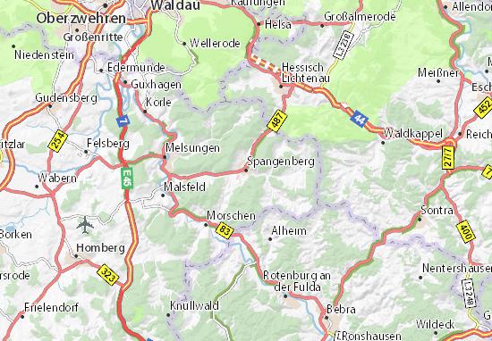 Spangenberg Map