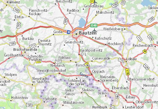 Mapas-Planos Großpostwitz O. L.