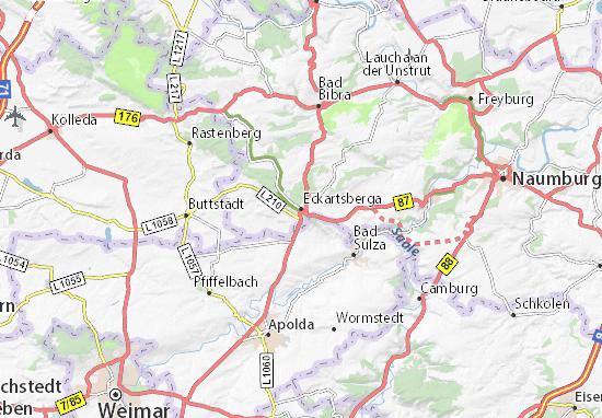 Mapa Plano Eckartsberga