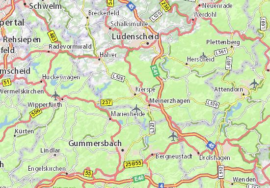 Karte Stadtplan Kierspe