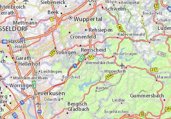 Mapa Wermelskirchen