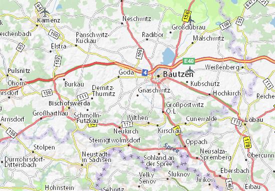 Carte-Plan Gnaschwitz