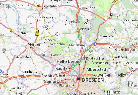 Karte Stadtplan Moritzburg