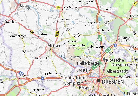 Mapa Plano Weinböhla
