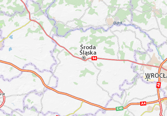 Carte-Plan Środa Śląska