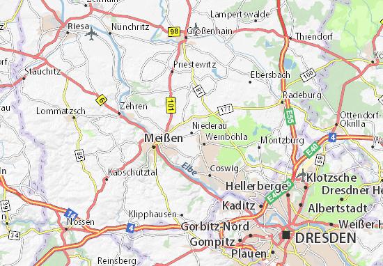 Mapa Plano Niederau