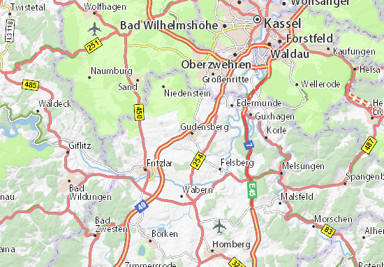 Gudensberg Map