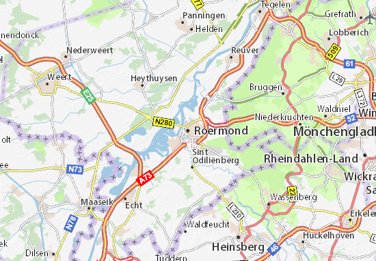 Karte Stadtplan Roermond