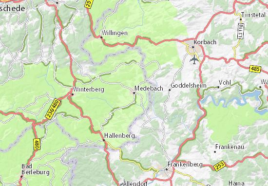 Medebach Map