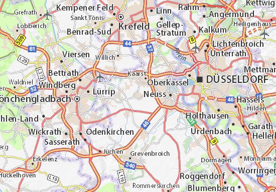 Mapa Plano Büttgen