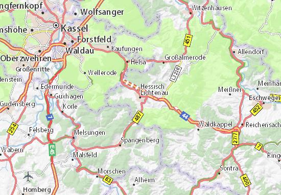 Carte-Plan Hessisch Lichtenau