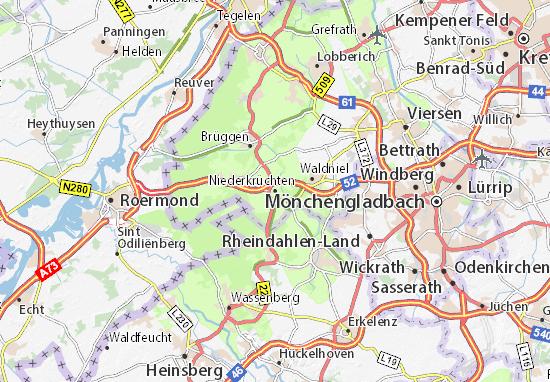 Niederkrüchten Map