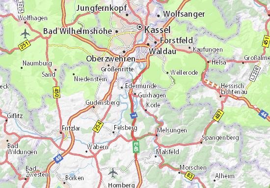 Guxhagen Map