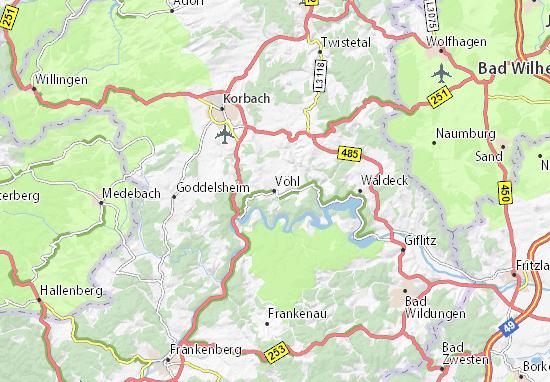 Vöhl Map