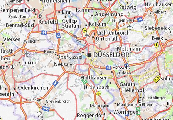 Düsseldorf Karte.Karte Stadtplan Unterbilk Viamichelin