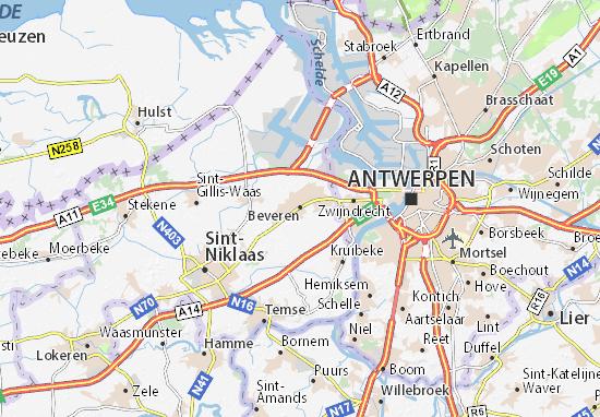 Beveren Map