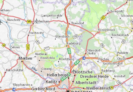 Radeburg Map