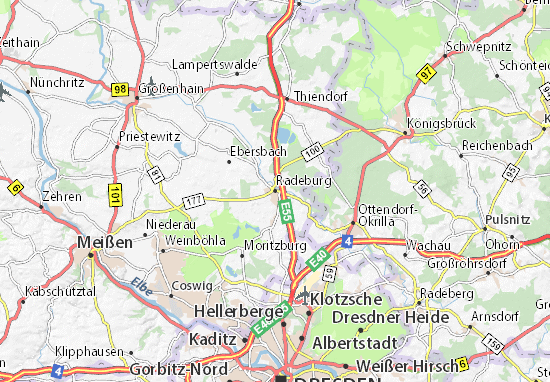Mapa Plano Radeburg