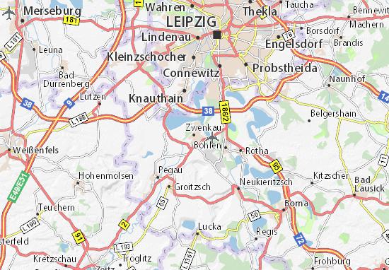 Zwenkau Map