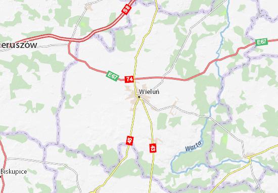 Mapa Wieluń