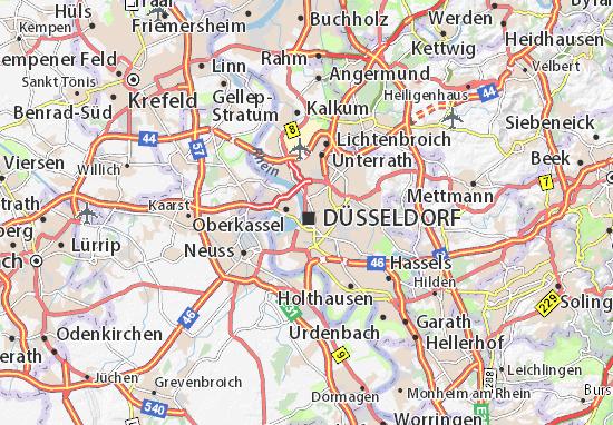 düsseldorf altstadt karte Karte, Stadtplan Altstadt   ViaMichelin