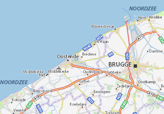 Carte-Plan Bredene