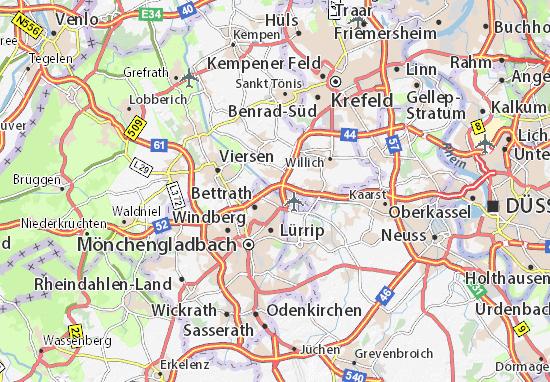 mönchengladbach karte Karte, Stadtplan Cloerbruch   ViaMichelin