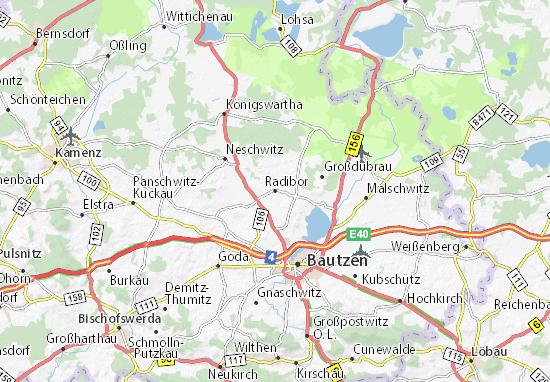 Radibor Map