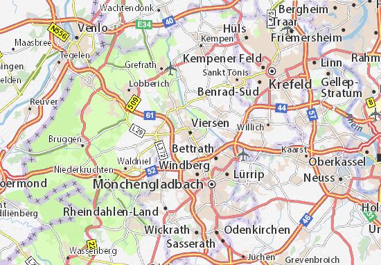Karte Stadtplan Viersen
