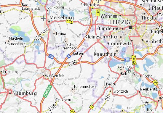 Kaart Plattegrond Lützen