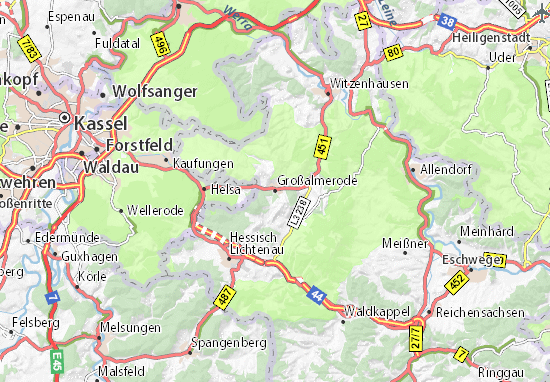 Großalmerode Map