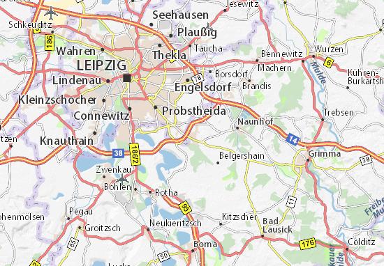 Karte Stadtplan Großpösna