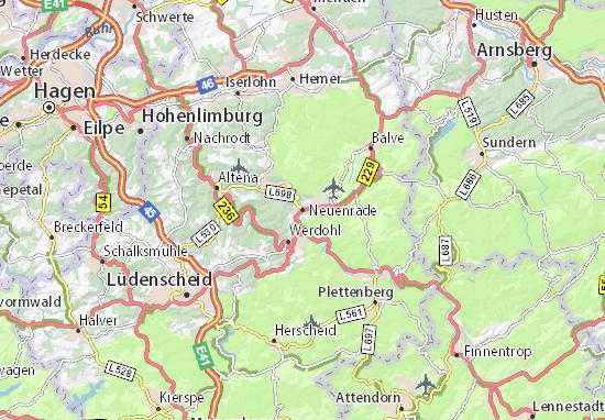 Kaart Plattegrond Neuenrade