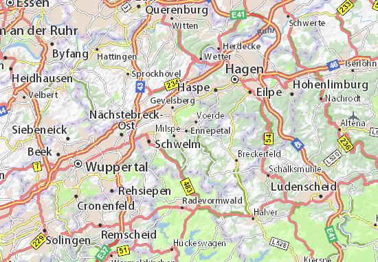 Kaart Plattegrond Ennepetal