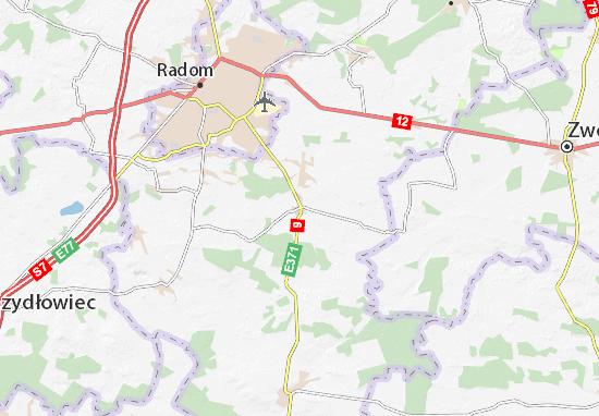 Mapa Skaryszew