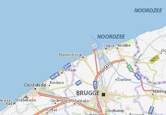 Blankenberge Map