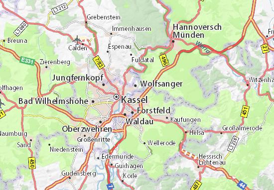 Carte-Plan Sandershausen